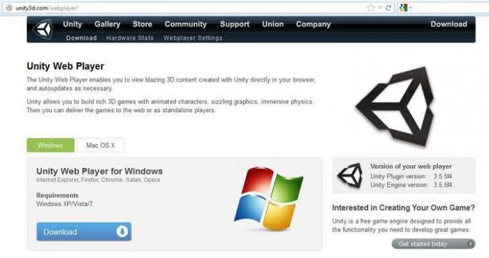 how to install unity web player for windows